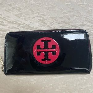Tory Burch Black and Red Wallet